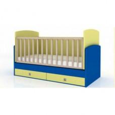 Бебешко легло БАМ БАМ с механизъм за люлеене