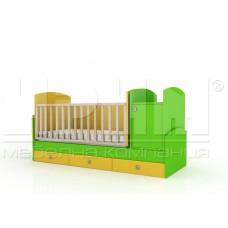 Бебешко легло УОЛИ с механизъм за люлеене